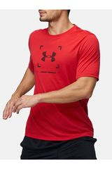 Polo de Hombre Under Armour Rojo threadborne target logo ss