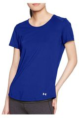 Polo de Mujer Under Armour Azul SPEED STRIDE SHORT SLEEVE