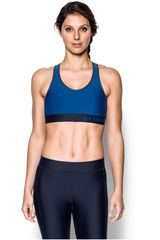Under Armour Azulino de Mujer modelo Armour Mid Solid Tops Deportivo