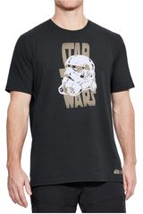 Polo de Hombre Under Armour Negro star wars warp ss