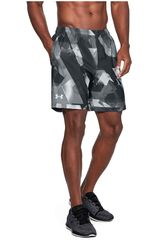 Under Armour Plomo de Hombre modelo UA LAUNCH SW 7'' PRINT SHORT Deportivo Shorts