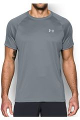 Polo de Hombre Under Armour Gris heatgear run s/s tee