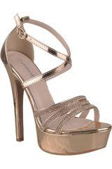 Platanitos Rose gold de Mujer modelo SVP 92 Plataformas Vestir Tacos Sandalias