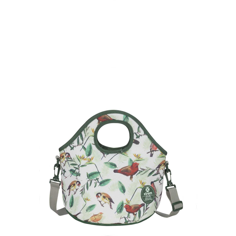 Lonchera de Niña Xtrem Blanco / gris lunch bag birds blossom neo 845