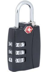 Saxoline Negro de Hombre modelo Candado 3-Dial TSA BLACK TRAVEL ACC SX Llaveros