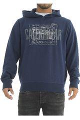 Polera de Hombre CAT Azul casual hooded sweatshirt