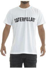 CAT Blanco de Hombre modelo caterpillar logo tee Deportivo Polos