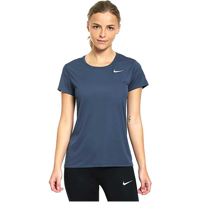 Polo de Mujer Nike Plomo w nk brthe rapid top ss  b41b194734620