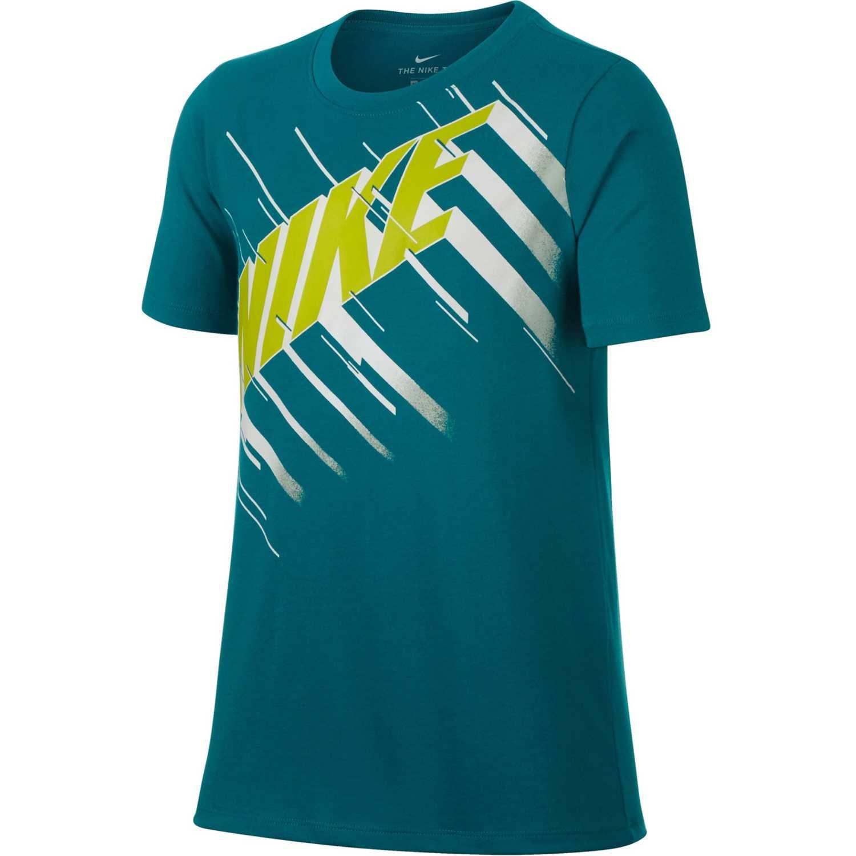 Polo de Jovencito Nike Verde b nk dry tee df speed block