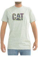 Polo de Hombre CAT Gris original fit logo tee