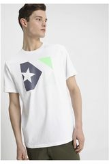 Converse Blanco de Hombre modelo STAR CHEVRON TRI COLOR TEE Polos Deportivo