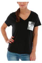 CAT Negro de Mujer modelo METALLIC POCKET TEE Polos Deportivo
