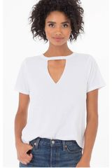 CAT Blanco de Mujer modelo CUT OUT TEE Deportivo Polos