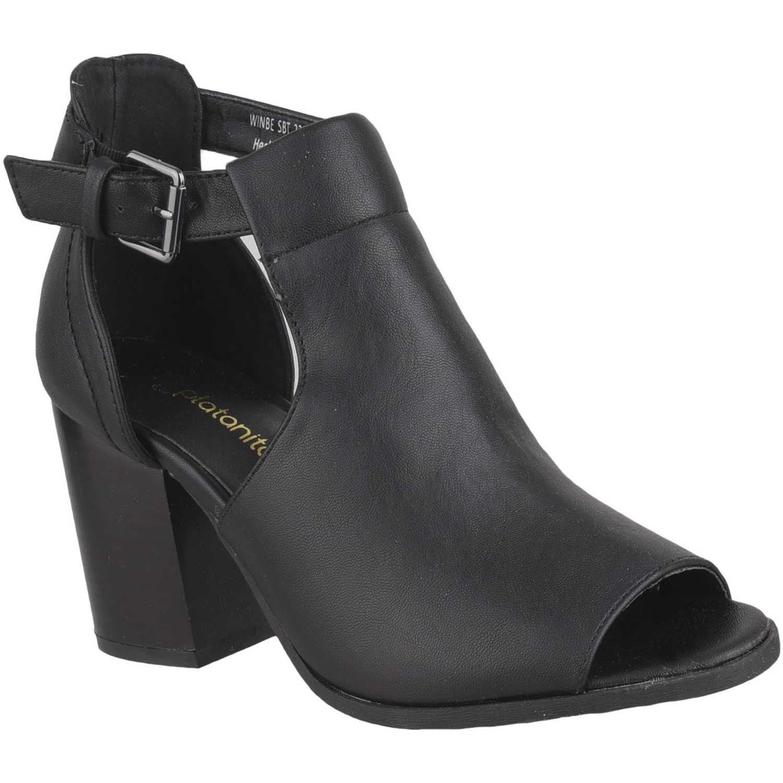 Sandalia de Mujer Platanitos Negro sbt 2205