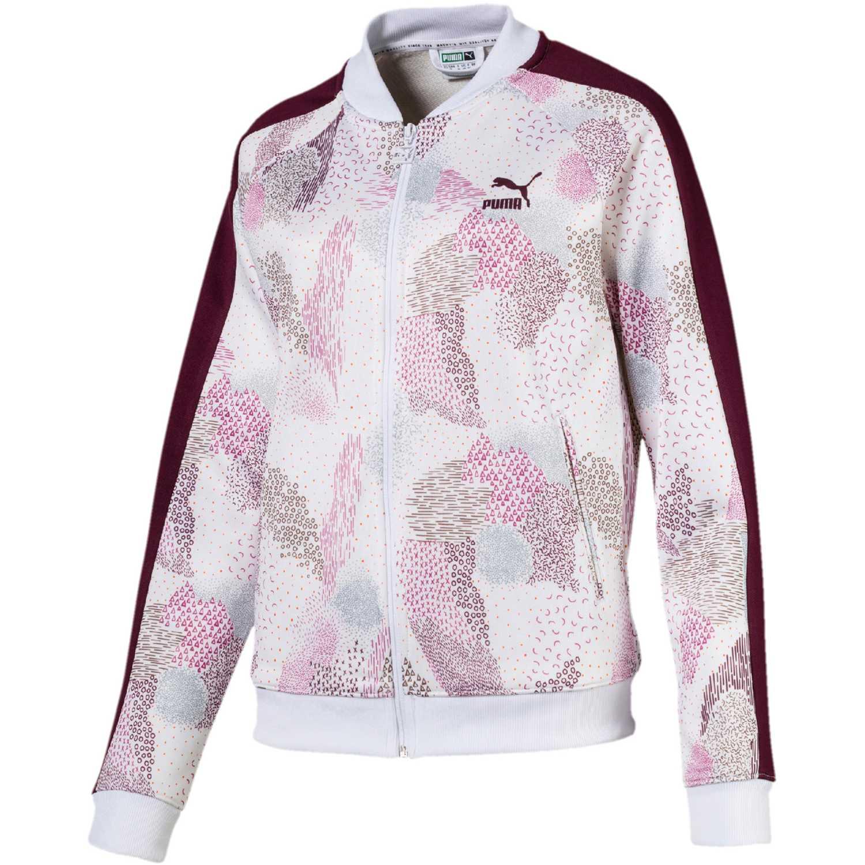 Casaca de Mujer Puma Blanco / rosado classics t7 track jacket aop