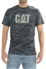 CAT Negro de Hombre modelo ALLOVER LOGO TEE Polos Deportivo