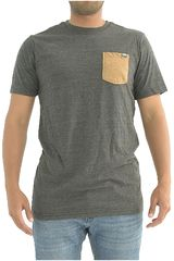 The North Face Plomo de Hombre modelo M S/S TRI-BLEND POCKET TEE Deportivo Polos