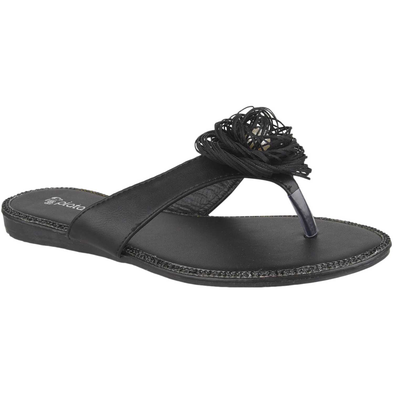 Flat de Mujer Platanitos Negro sf 1433