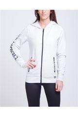 Everlast Blanco de Mujer modelo chaqueta publicity Casacas Deportivo
