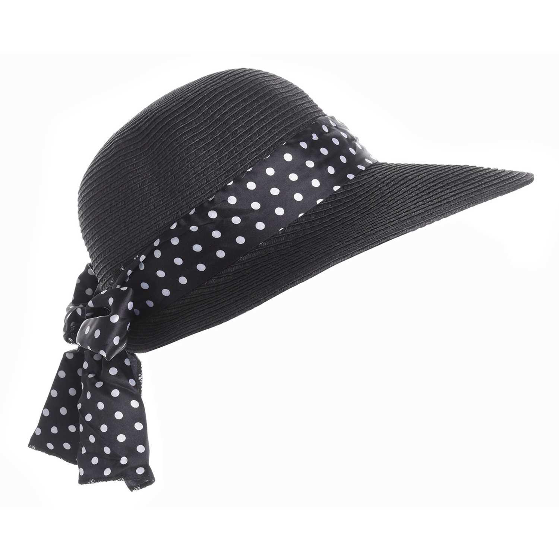 Sombrero de Mujer Platanitos Negro u48-11-a