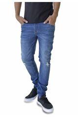 ROCK & RELIGION Celeste de Hombre modelo newman Jeans Casual Pantalones