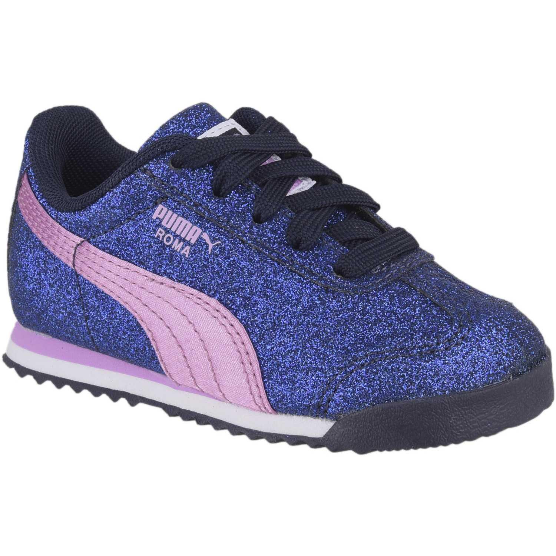 7a2cc1b186 Zapatilla de Niña Puma Azul   rosado roma glamour inf