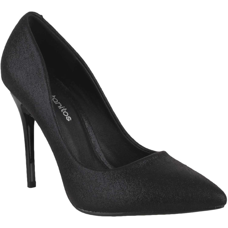 Calzado Fiesta de Mujer Platanitos Negro f 8431