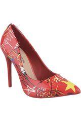 Platanitos Rojo de Mujer modelo CV 1681 Vestir Tacos Fiesta Zapatos
