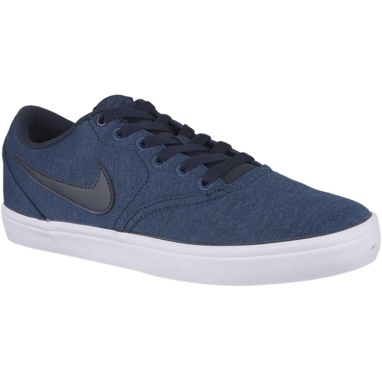 bd60b5988b900 Zapatilla de Hombre Nike Azul   blanco nike sb check solar cnvs prm ...
