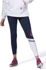 Reebok Azul de Mujer modelo ac logo legging Leggins Deportivo