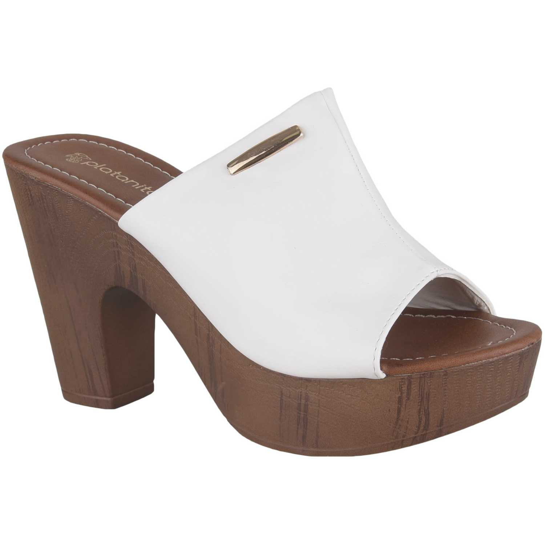 Sandalia Plataforma de Mujer Platanitos Blanco sp 723