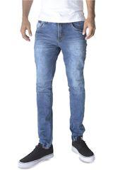 ROCK & RELIGION Azul oscuro de Hombre modelo durant Jeans Casual Pantalones
