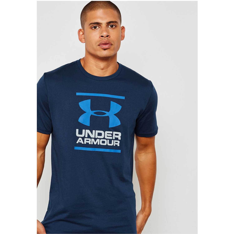 Polo de Hombre Under Armour Azul ua gl foundation ss t-nvy ... 5b8db214466bc
