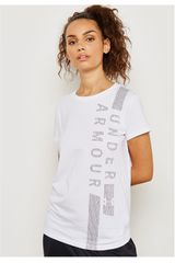 Under Armour Blanco de Mujer modelo graphic classic crew vertical wm-wht Deportivo Polos