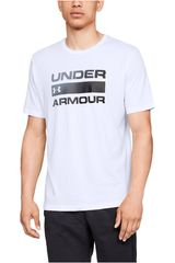 Under Armour Blanco de Hombre modelo ua team issue wordmark ss-wht Polos Deportivo