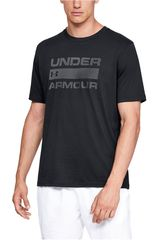 Under Armour Negro de Hombre modelo ua team issue wordmark ss-blk Polos Deportivo