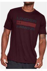 Under Armour Morado de Hombre modelo ua team issue wordmark ss-red Deportivo Polos
