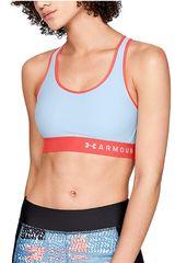 Under Armour Celeste / naranja de Mujer modelo armour mid keyhole bra-blu Tops Deportivo