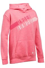 Polera de Niña Under Armour Rosado favorite fleece hoody