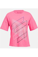 Under Armour Rosado de Niña modelo ua step it up ss tee-mis Polos Deportivo