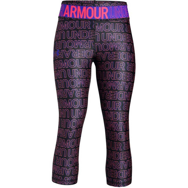 Leggin de Jovencita Under Armour Negro / morado hg armour novelty capri-blk