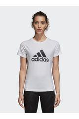 Adidas Blanco de Mujer modelo d2m logo tee Polos Deportivo