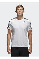 Adidas Blanco de Hombre modelo d2m tee 3s Polos Deportivo