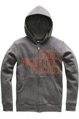 The North Face Gris / naranja modelo b logowear full zip hoodie Poleras Casual