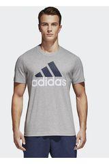 Polo de Hombre Adidas Gris ess linear tee