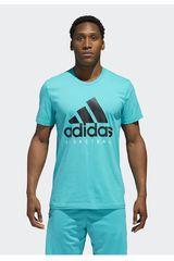 Adidas Celeste de Hombre modelo adi bb gfx tee Polos Deportivo