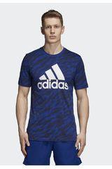 Adidas Azul de Hombre modelo ess aop tee Deportivo Polos