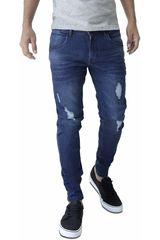 ROCK & RELIGION Azul oscuro de Hombre modelo giovan Jeans Casual Pantalones