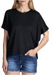 Octodenim Negro de Mujer modelo alexandra Casual Polos