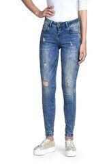 Octodenim Azul de Mujer modelo romina Casual Pantalones Jeans